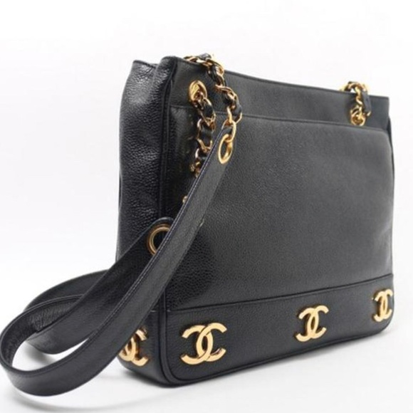 8b3b71a29506 CHANEL Handbags - Authentic Vintage Chanel Gold Plated Motifs Tote